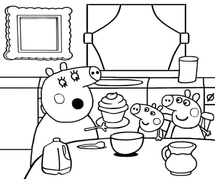 print peppa pig coloring pages from peppa pig coloring