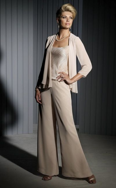 Floor Length Lace Cardigan >> Cameron Blake Formal Pant Set with Skirt 111673 at ...