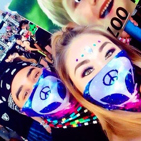 - We Rave In Peace Seamless Mask Bandana
