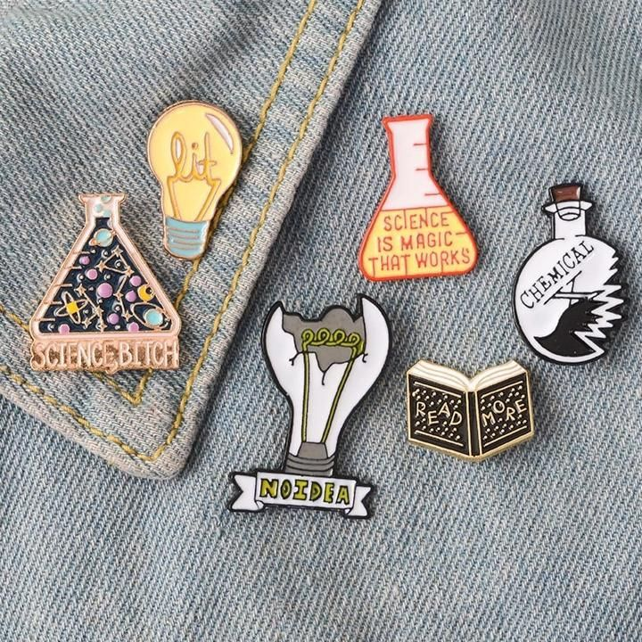 lapel pin Science Enamel Pin Set enamel pins lapel pins