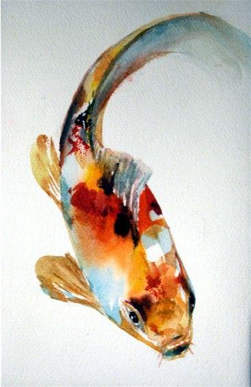 Tropical koi a fish painting a day koi carp koi and for Japanese koi painting