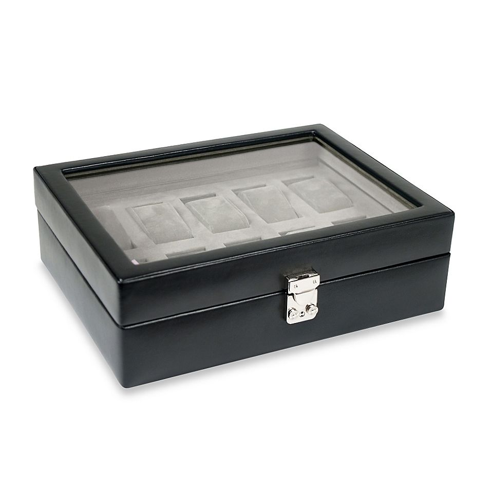 Wolf Designs Heritage 10 Piece Watch Storage Box In Black Watch Storage Box Watch Storage Watch Storage Case