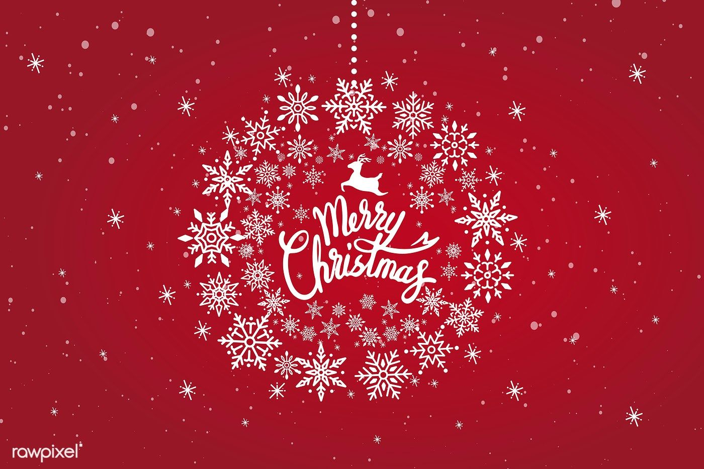 Merry Christmas typography design vector free image by