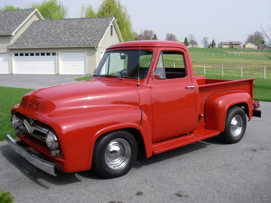 1955 Ford Truck F 100 Pick Up Pinterest F100 Red