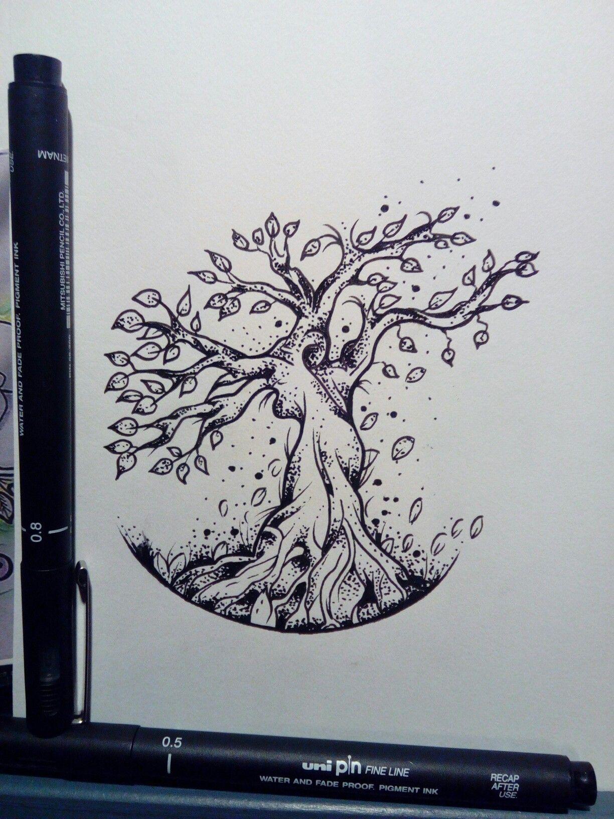 croquis arbre de vie mini tatouages dessin arbre de. Black Bedroom Furniture Sets. Home Design Ideas