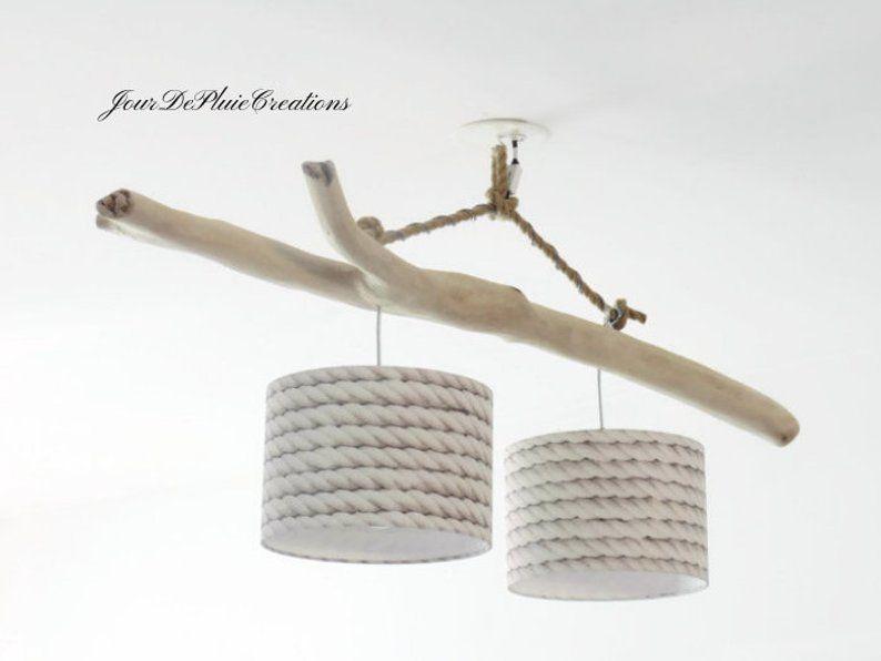 driftwood chandelier ceiling light lampshade 25 cm unique. Black Bedroom Furniture Sets. Home Design Ideas