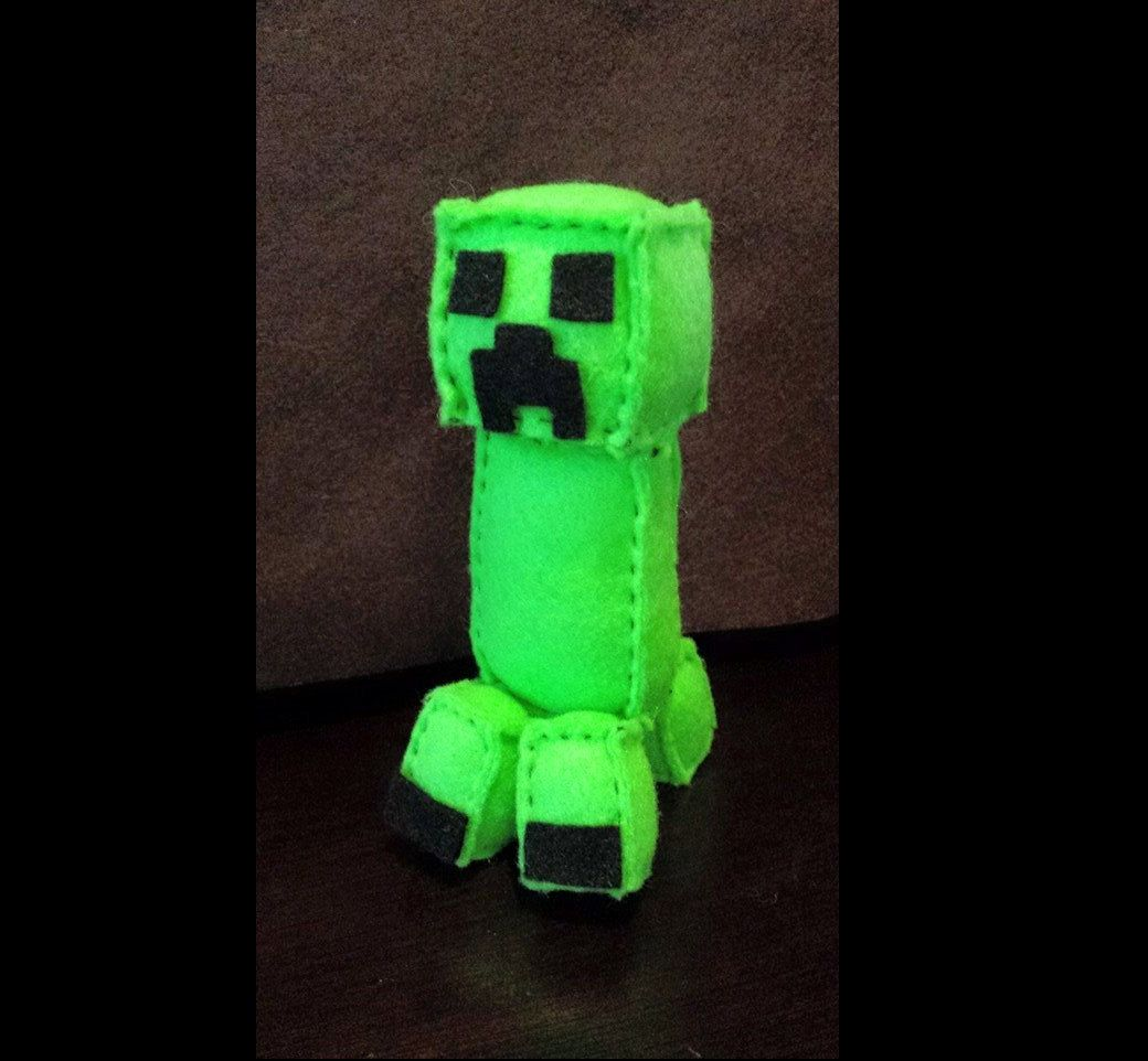 Creeper Felt Plush Pattern (Inspired by Minecraft