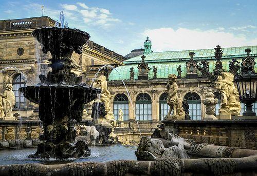 Dresden Zwinger Nymphenbad Oberer Schalenbrunnen Dresden City Royal Residence