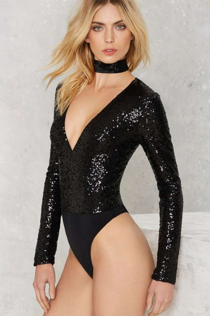 Find What You re Sequin Bodysuit - Black - Clothes  d73febdf3