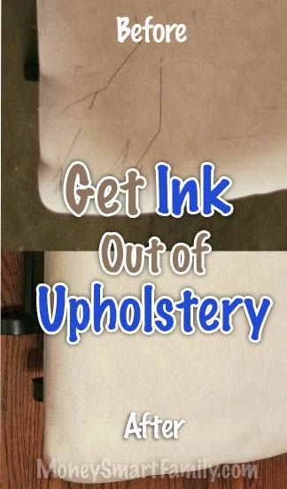 How To Get Ink Out Of Upholstery Fabric: 3 Easy, Fast