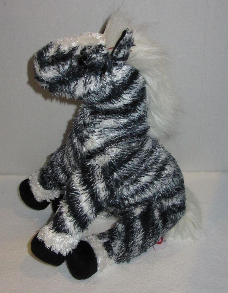 TY Classic Kivu Zebra Stuffed Plush Soft Toy 2002 Retired 12