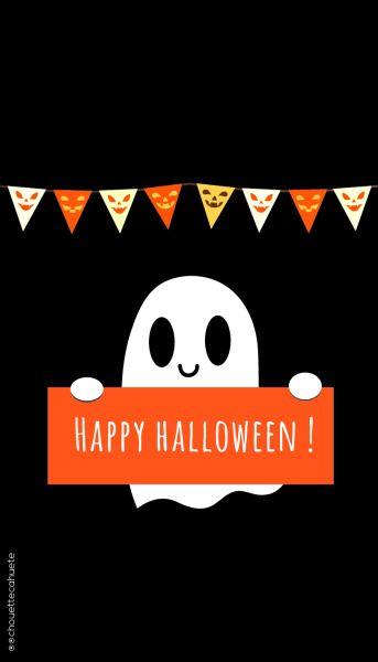 Happy Halloween Lovehalloween Cute Ghost Halloween Text Happy Halloween Quotes Halloween Wallpaper