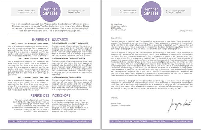 Resume Template 109090 Template, Resume cover letter template and