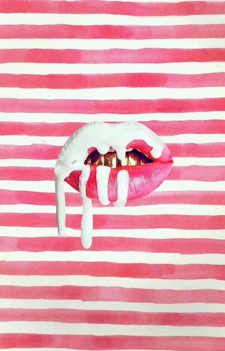 kylie jenner lip kit iphone wallpaper WallpapersIphone