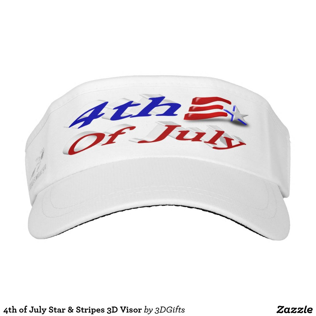 1b20a6b1e3c 4th of July Star   Stripes 3D Visor Headsweats Visors