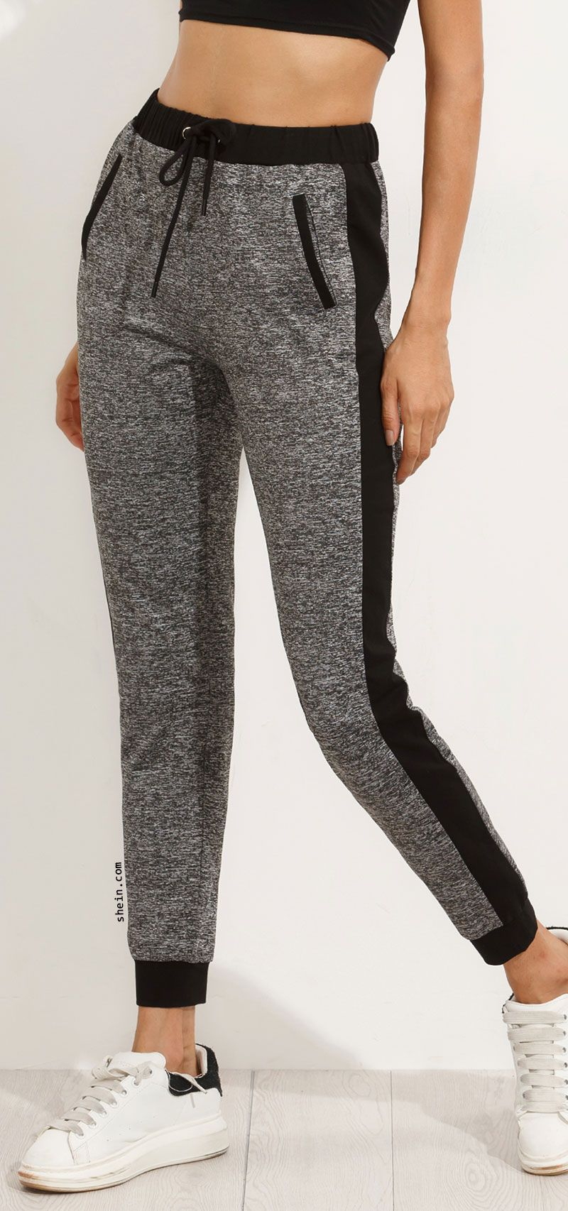 Grey Pocket Tie Waist Pants  b1151686c16a