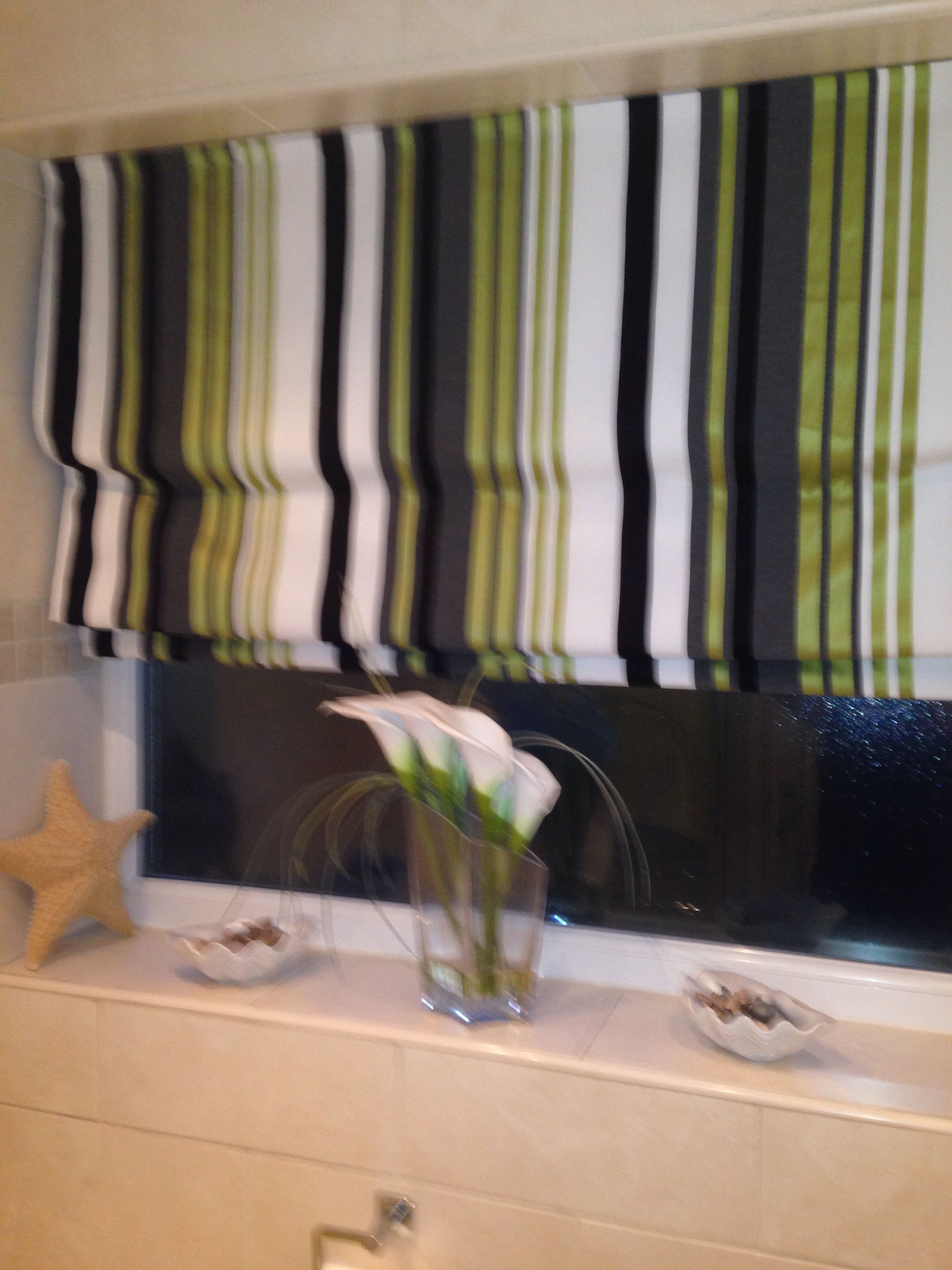 Lime Green And Black Bathroom Blind