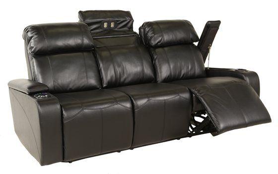 Transformer Black Power Reclining Sofa Power Reclining