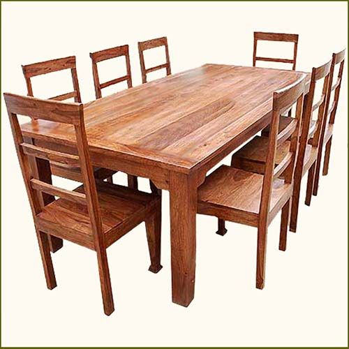 Rustic Furniture Rectangle Dining Room Table U0026 Chair Set For 8 People