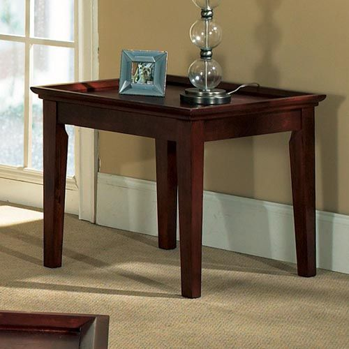 Clemens Cherry Finished End Table Wood End Tables Steve Silver Furniture End Tables