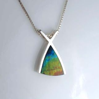 Scandinavian Design Jewelry Rainbow Jewelry Spectrolite Art from
