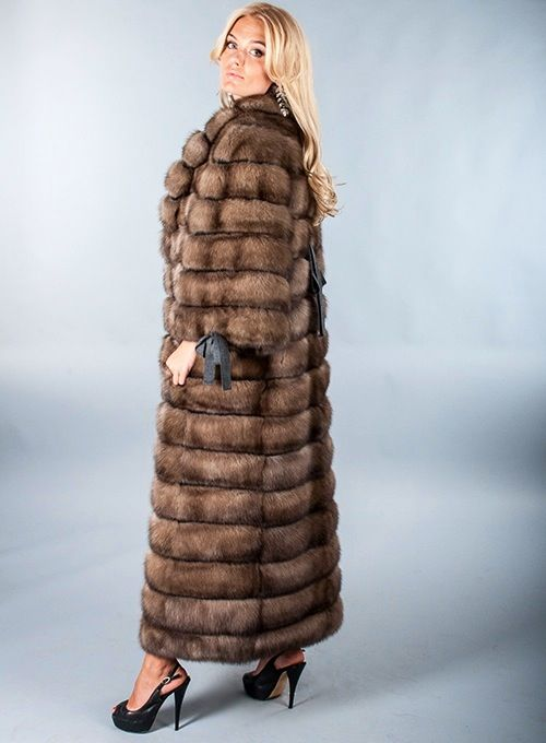 Tortora Dyed Sable Fur Coat