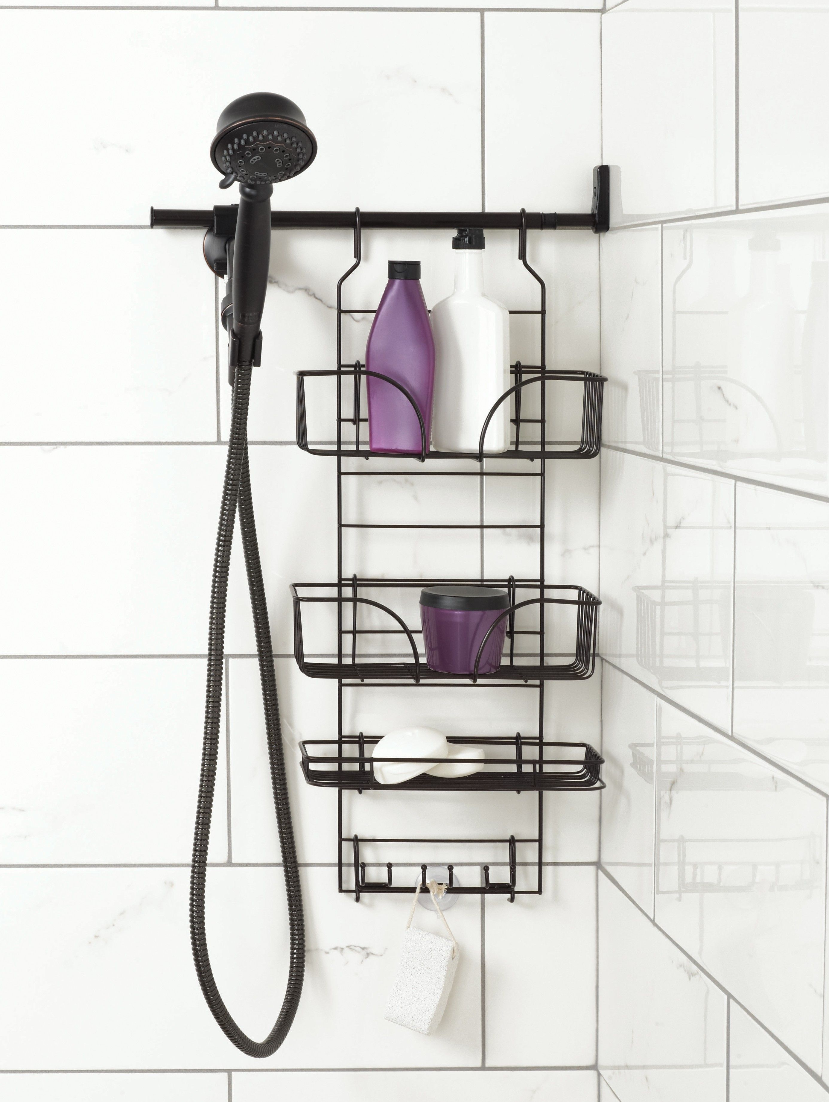 Make-A-Space Adjustable Side Mount Shower Caddy, Bronze - Zenith ...