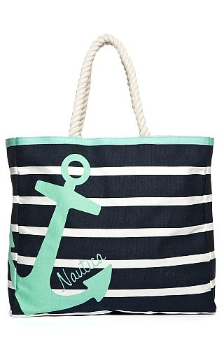 Womens's Striped Beach Bag - Nautica.com | Noteworthy Nautical ...