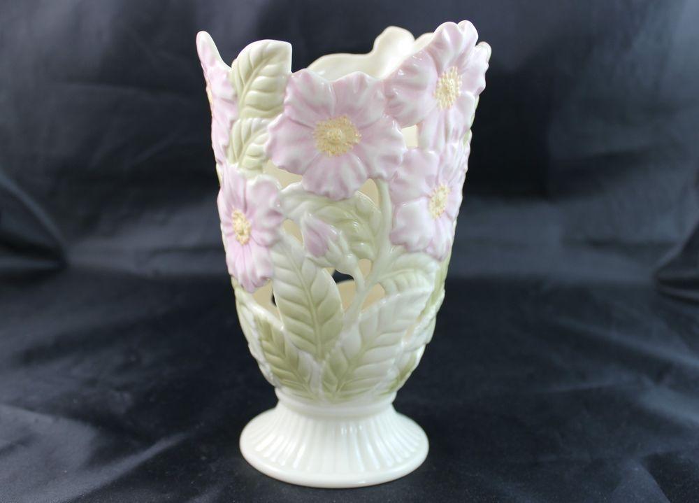 Lenox Pierced Wild Rose Vase China China And Dinnerware