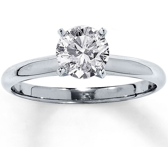 Diamantring weißgold günstig  Diamant Ring Solitär mit einem 1.00 Karäter Diamanten in der ...
