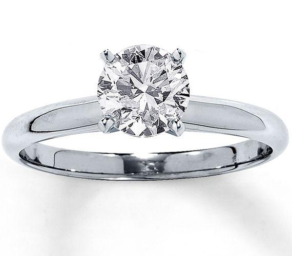 diamantring solit r karat f si1 585er wei gold diamantringe von pearlgem pinterest. Black Bedroom Furniture Sets. Home Design Ideas