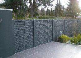 Becker Betonzaun betonzaun begrenzung zaun design kowalewski anthrazit garten