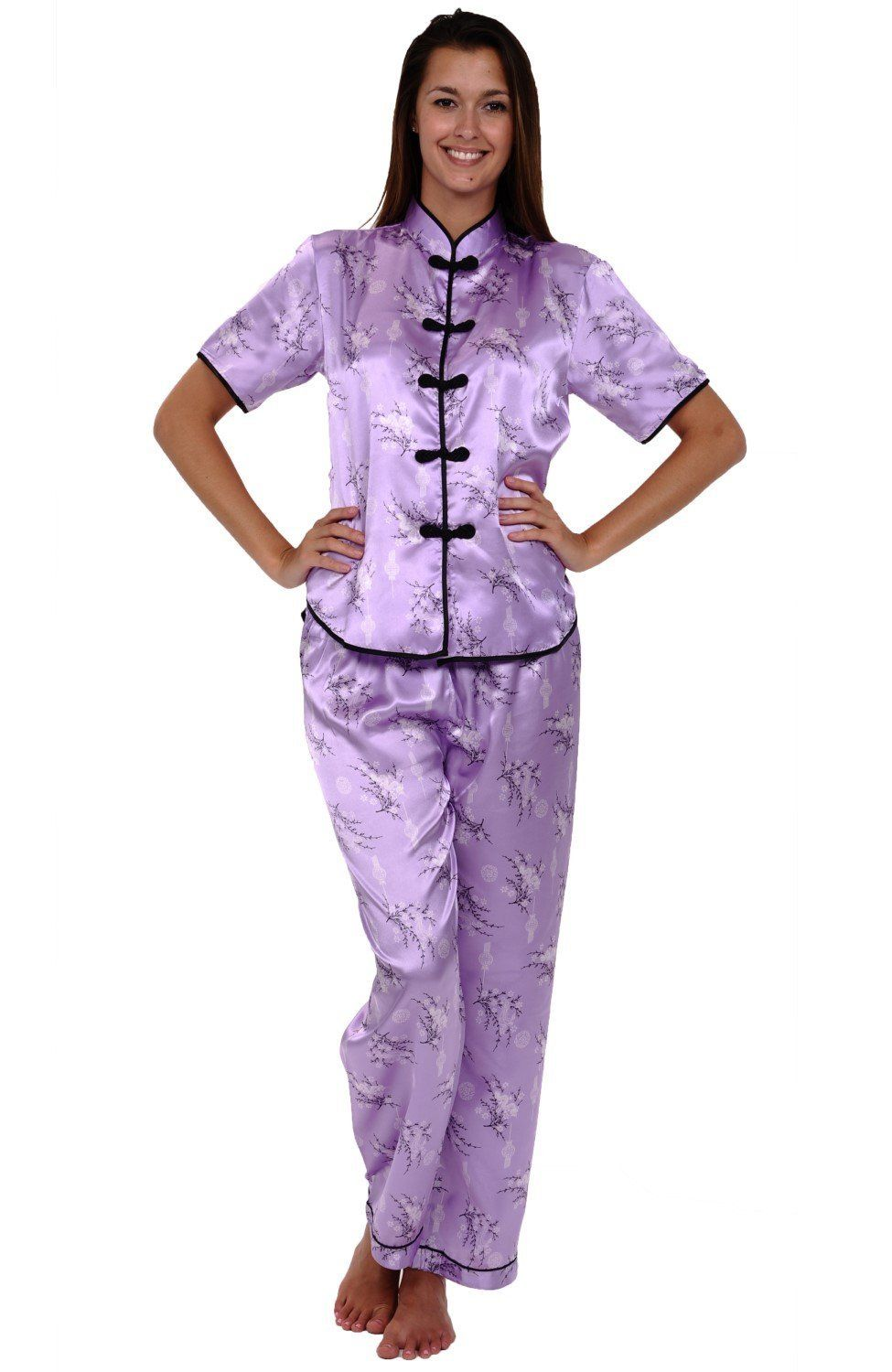 dabb43ee0 Del Rossa Women's Satin Pajamas, Chinese Inspired Pj Set ** This is an  Amazon Affiliate link. Details can be found by clicking on the image.