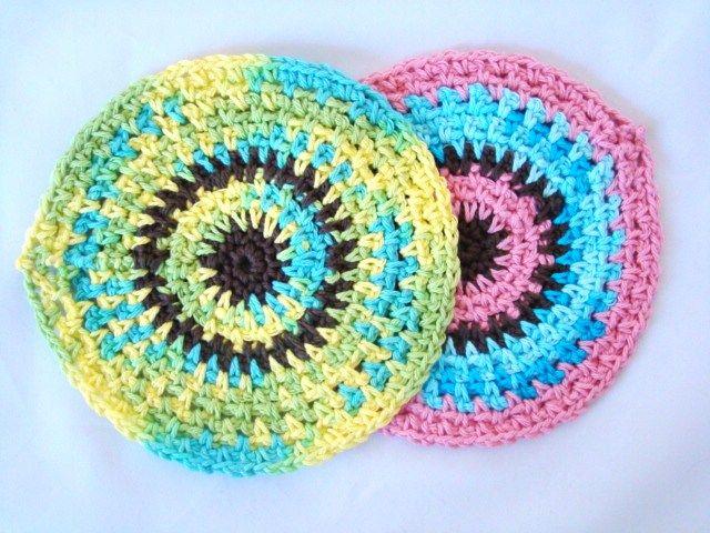 Free Crochet Pattern Circle Dishcloth Geri Hoopes Pinterest