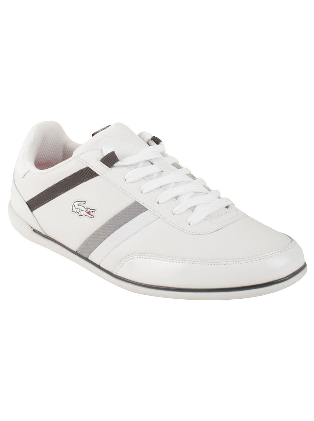 657715202 Lacoste Men s Giron in White Dark Grey Fresh in style and clean in design