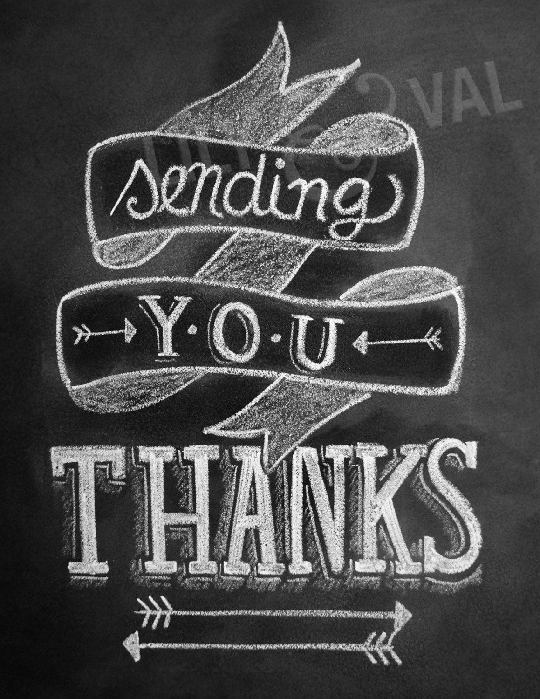 arrow card thank you card chalkboard thank you card sending