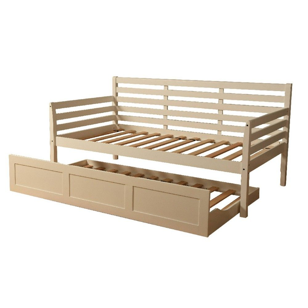 Swell Yorkville Trundle Daybed Frame Only White Dual Comfort Spiritservingveterans Wood Chair Design Ideas Spiritservingveteransorg