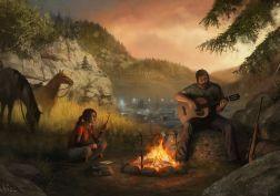 The Last of Us Fire Men Horses Guitar Games Girls apocalyptic fantasy wallpaper