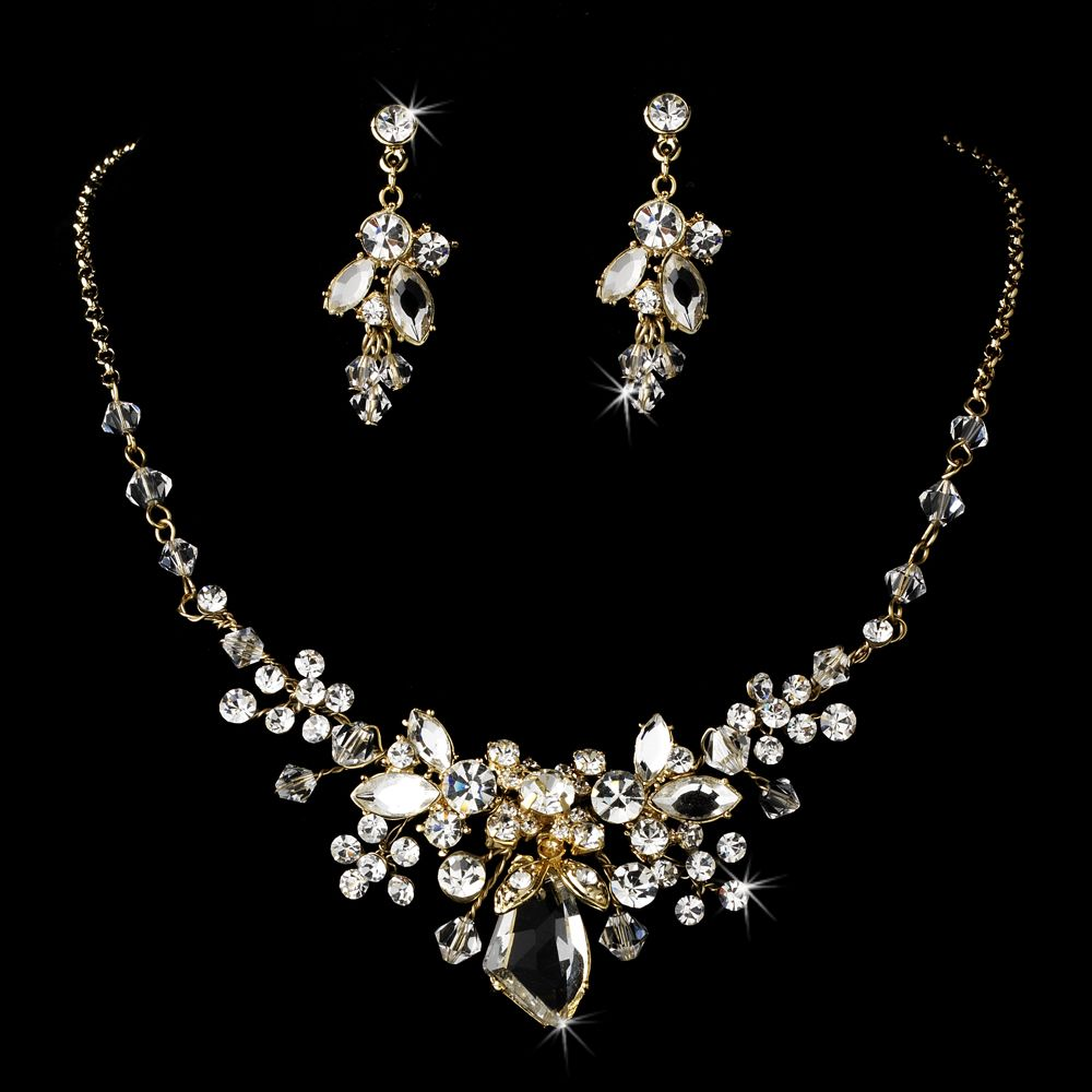 Swarovski Bridal Jewelry Silver Gold