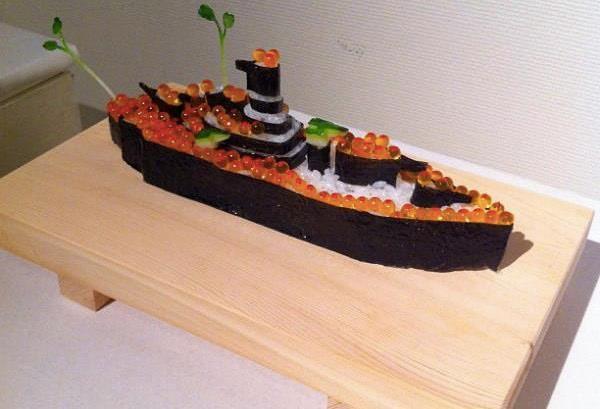 battle ship sushi, GUNKAN MAKI