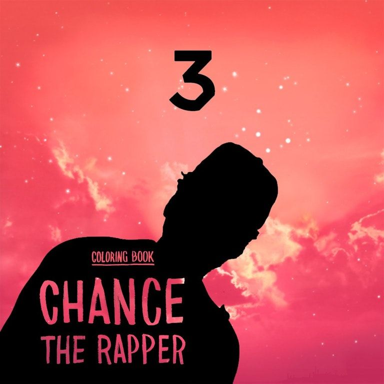 Chance The Rapper Coloring Book 1000x1000 Freshalbumart Chance The Rapper Coloring Books Coloring Book Chance
