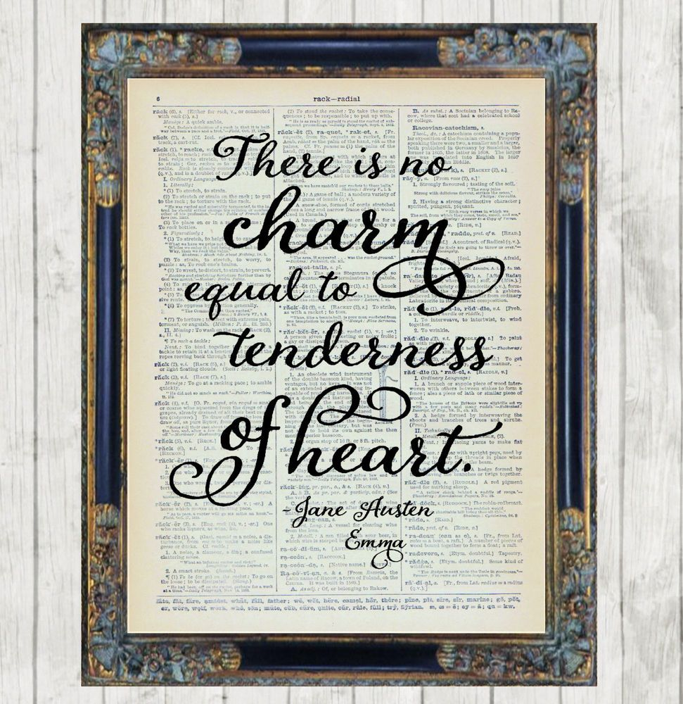 Jane Austen Quote From Emma Dictionary Art Print Picture
