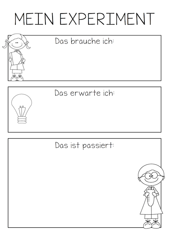 Mein Experiment - in 2018 | for the children | Pinterest | Schule ...