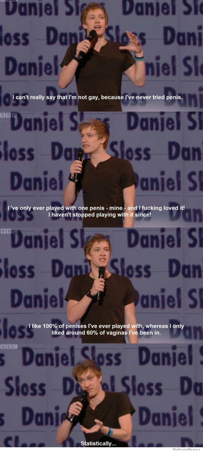 i cant really say that im not gay daniel sloss