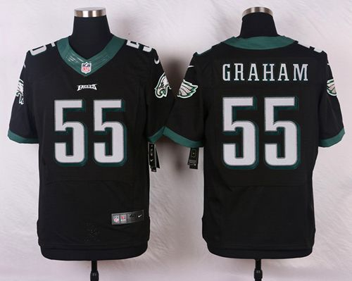 1d22ac95e Bengals Tyler Eifert jersey Nike Eagles  55 Brandon Graham Black Alternate  Men s Stitched NFL New