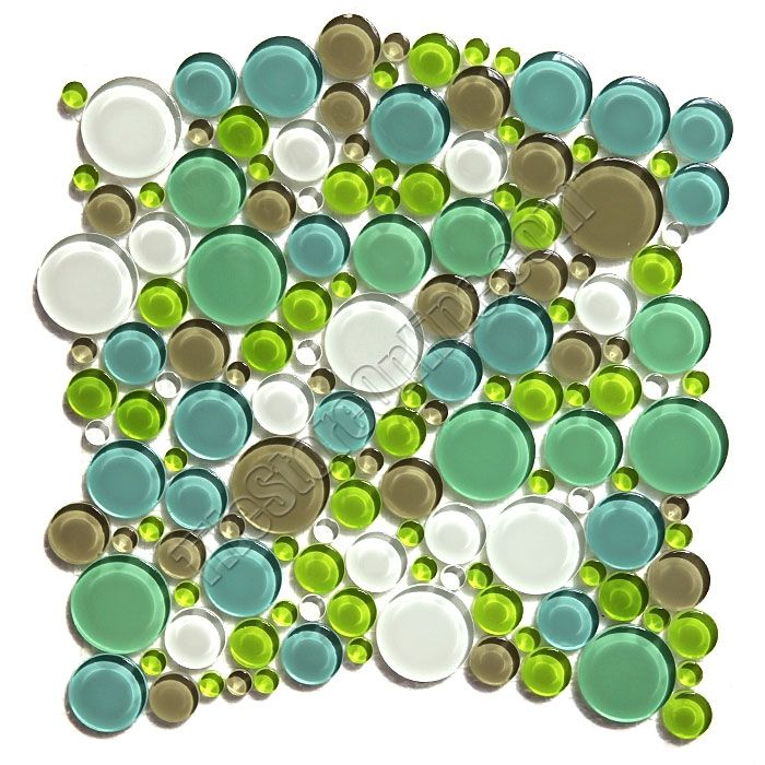 Round Bubbles Glass Tile Mosaic Crystal Glass Bubbles Round Mosaic Glass Tile Glbu17 1200m030 Spa Blend Glossy Sample Bubble Glass Mosaic Tiles Mosaic Glass