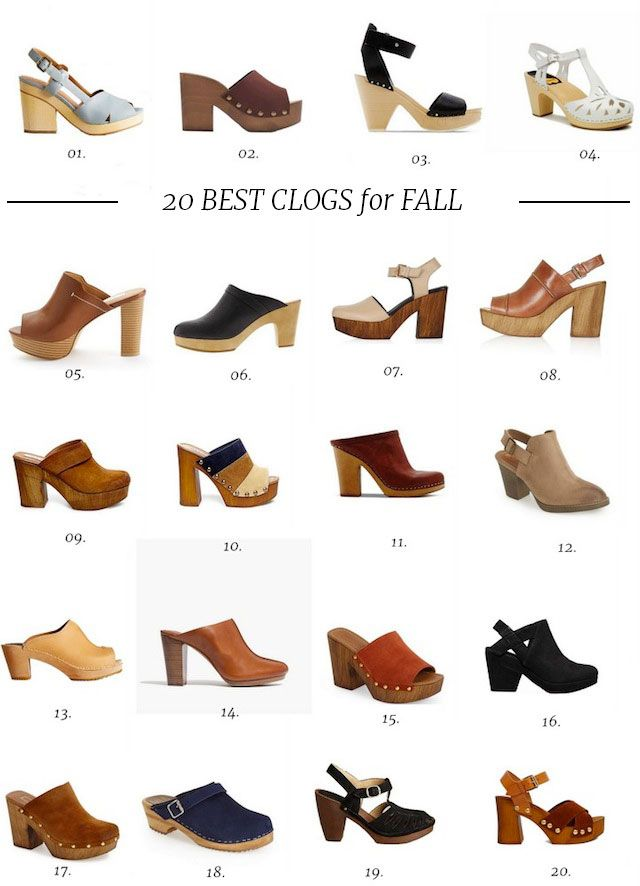 aa082297cb6d90 20 Best Clogs for Fall Clogs Outfit