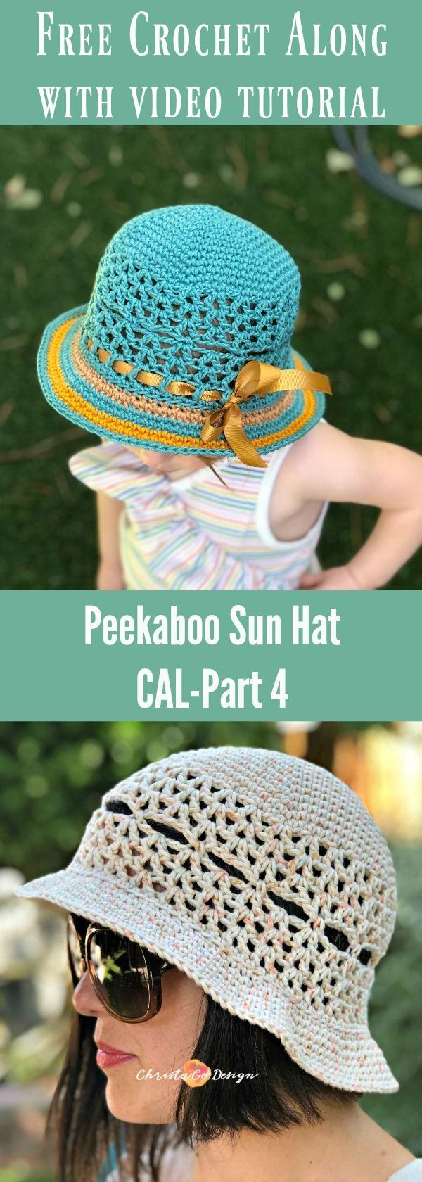 Peekaboo Sun Hat Free Crochet Along Part 4 Brim Christacodesign