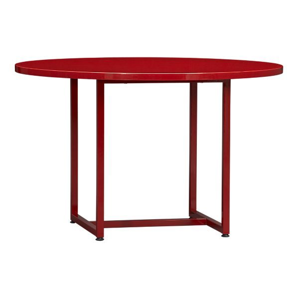 Love This Powder Coated Cherry Red Round Dining Table