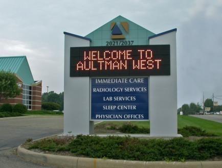 Large Hospital / Church Pylon Sign